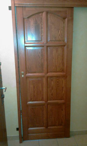 8 kazettás fa beltéri toló ajtó