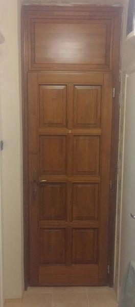 8 kazettás telifabetétes fa bejárati ajtó